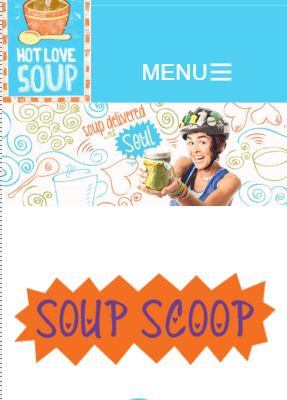 Hot Love Soup – Conversion to Responsive Site